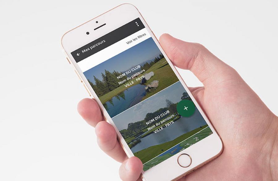 Site 100Golf sur mobile